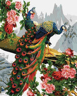 Load image into Gallery viewer, Peacocks on a Tree DIY Diamond Painting Kit