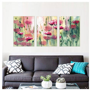 Triptych Withering Poppies 3pcs/set DIY Diamond Painting Kit