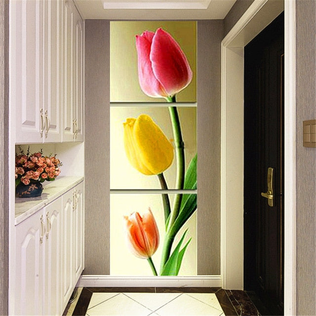 Vertical combination Three Tulips 3pcs/set DIY Diamond Painting Kit