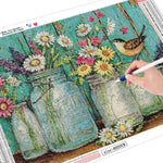 Load image into Gallery viewer, Bird and Flowers DIY Diamond Painting Kit
