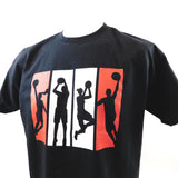 Basketball England 4 Player Silhouette T-Shirt