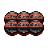 Wilson Basketball England Evolution Official Game Ball - Bundle of 6