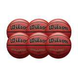 Wilson Basketball England Solution Official Game Ball - Bundle of 6