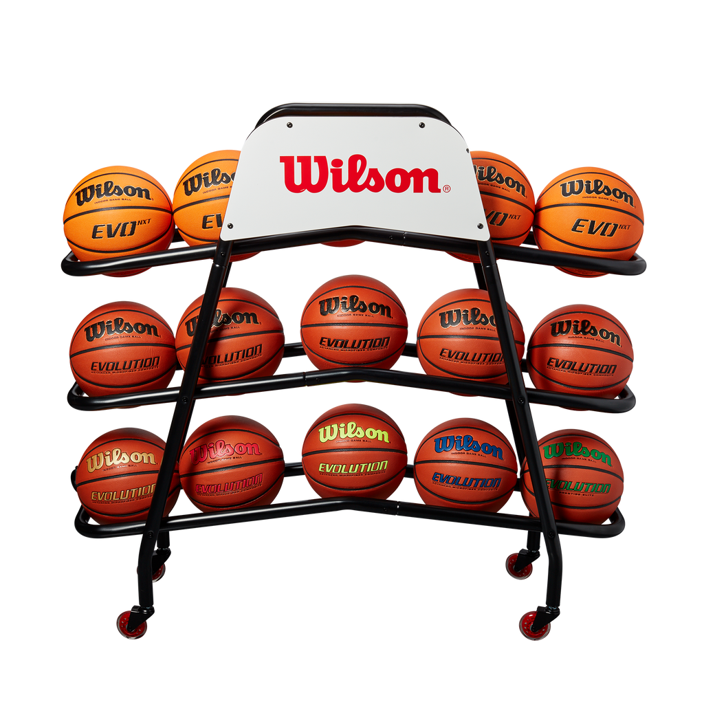 Wilson Deluxe Basketball Ball Cart 15 Balls