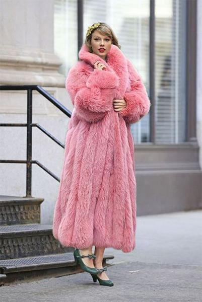 Flamingo Fur Coat