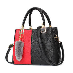 Fashion Stitching Color Handbag Satchel