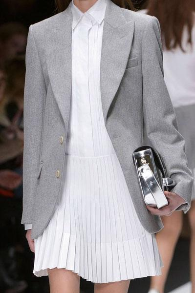 Grey Two-Button Suit Jacket