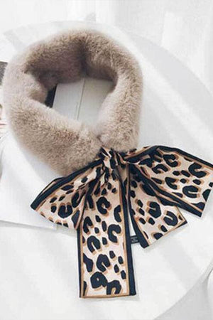 Fashion Fur Collar Streamer Bib