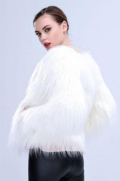 Faux Fur Coat With LED