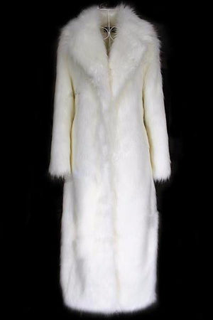 Snow Fur Long Robes