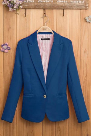 Solid Short Blazer Top