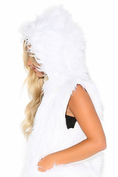 LED Hooded Fur Jacket