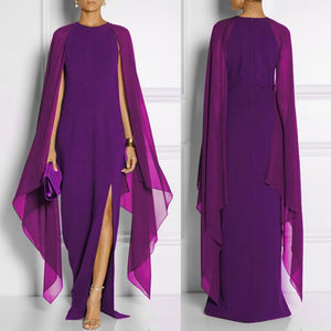Queen Style Stretchable Chiffon Long Dress