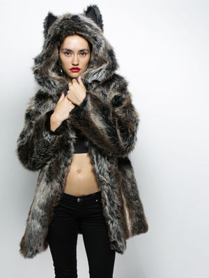 Elegant Cute Wolf Ear Fur Coat