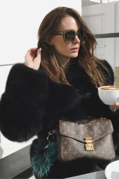 Short Black Fox Fur Coat