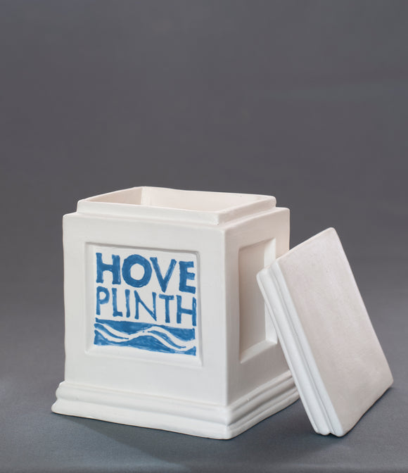 Jackie Summerfield - Plinth with lid and logo