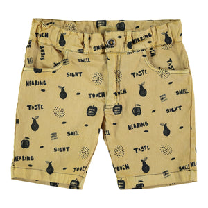ANCLA OCHRE ALLOVER SHORT