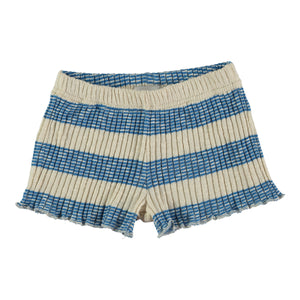 AZUCAR BLUE STRIPED - TRICOT SHORT