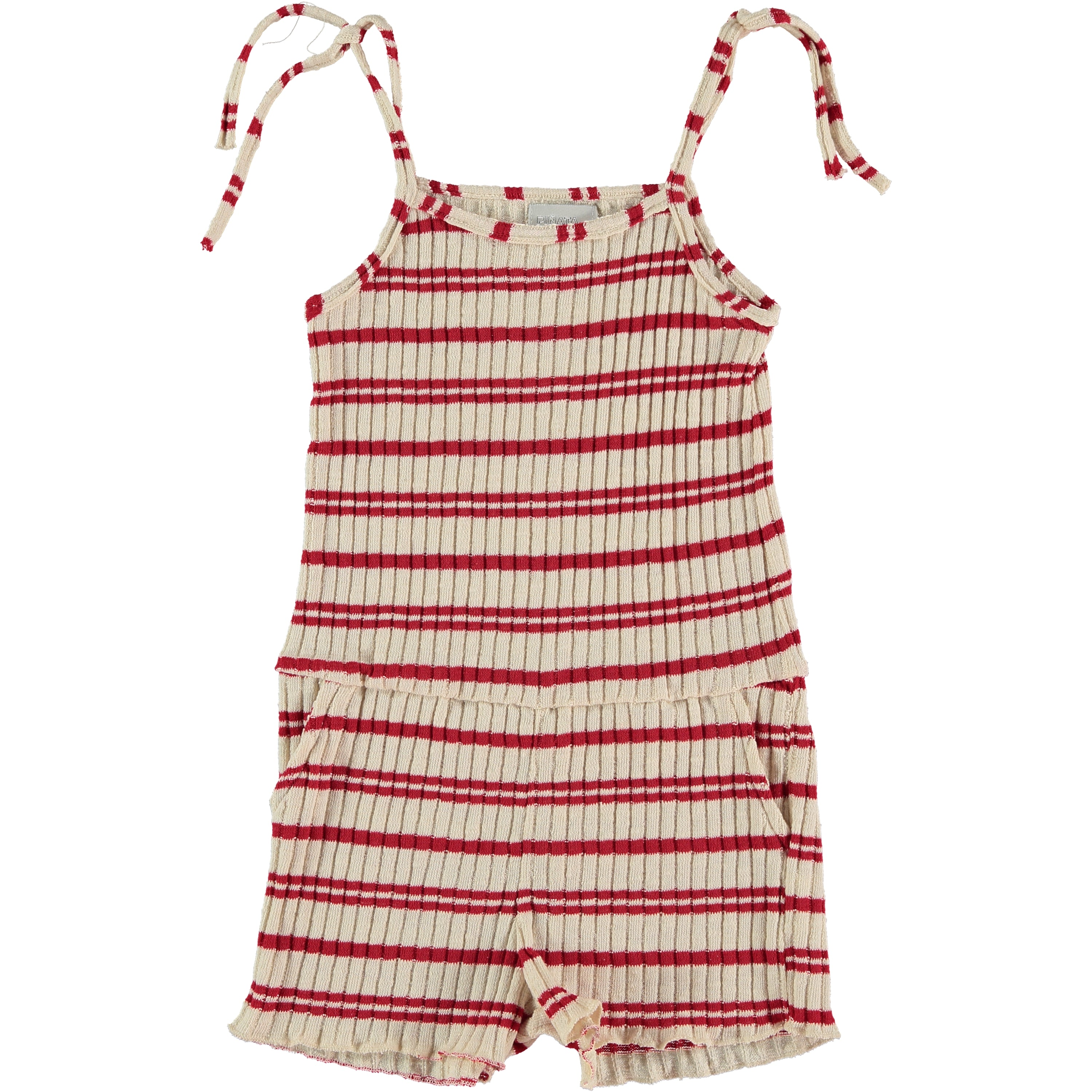 JOIN RED STRIPED - TRICOT OVERALL