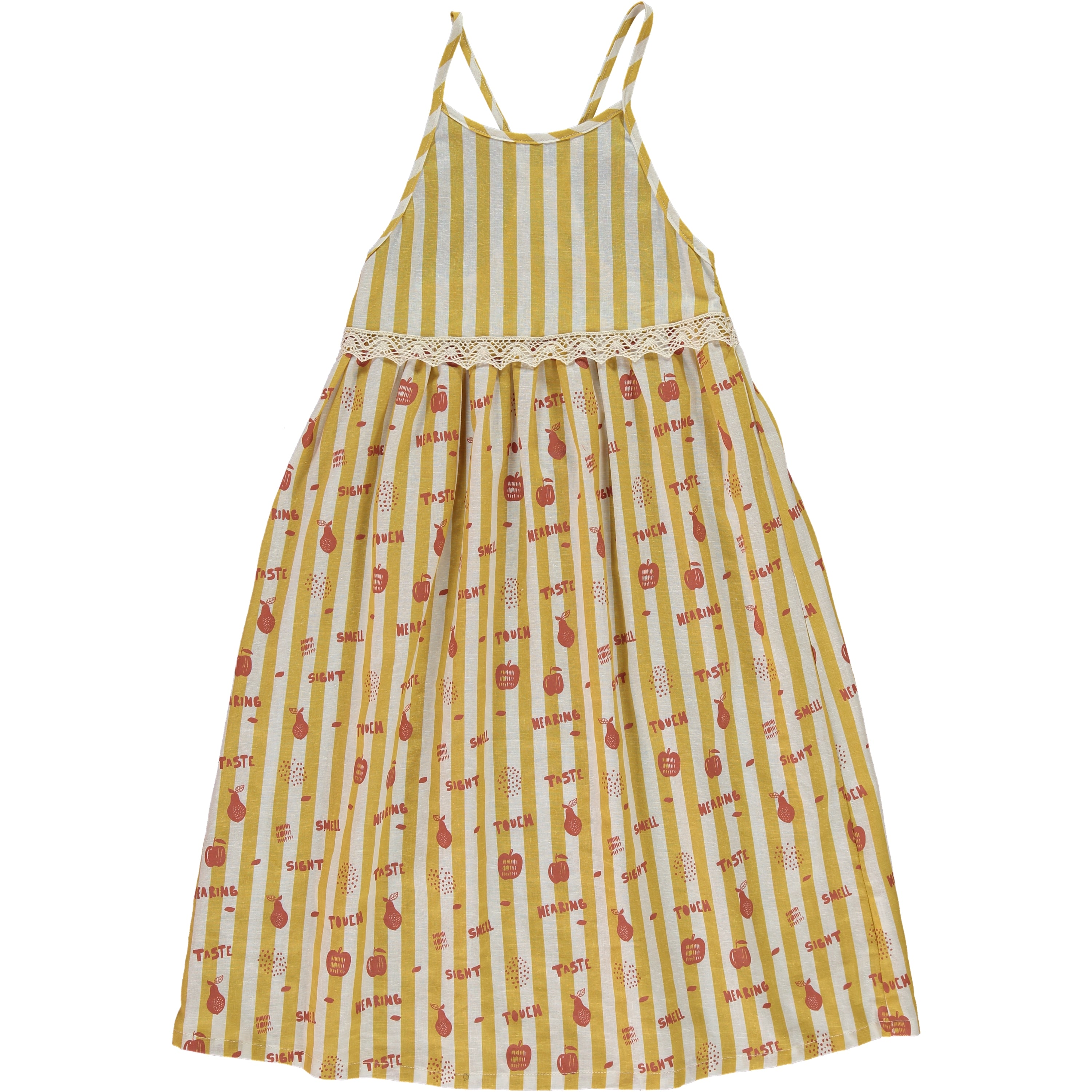 MASAI OCHRE STRIPED DRESS