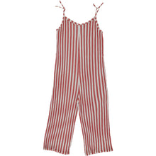 SAVANNAH CAPUCINE STRIPED OVERALL