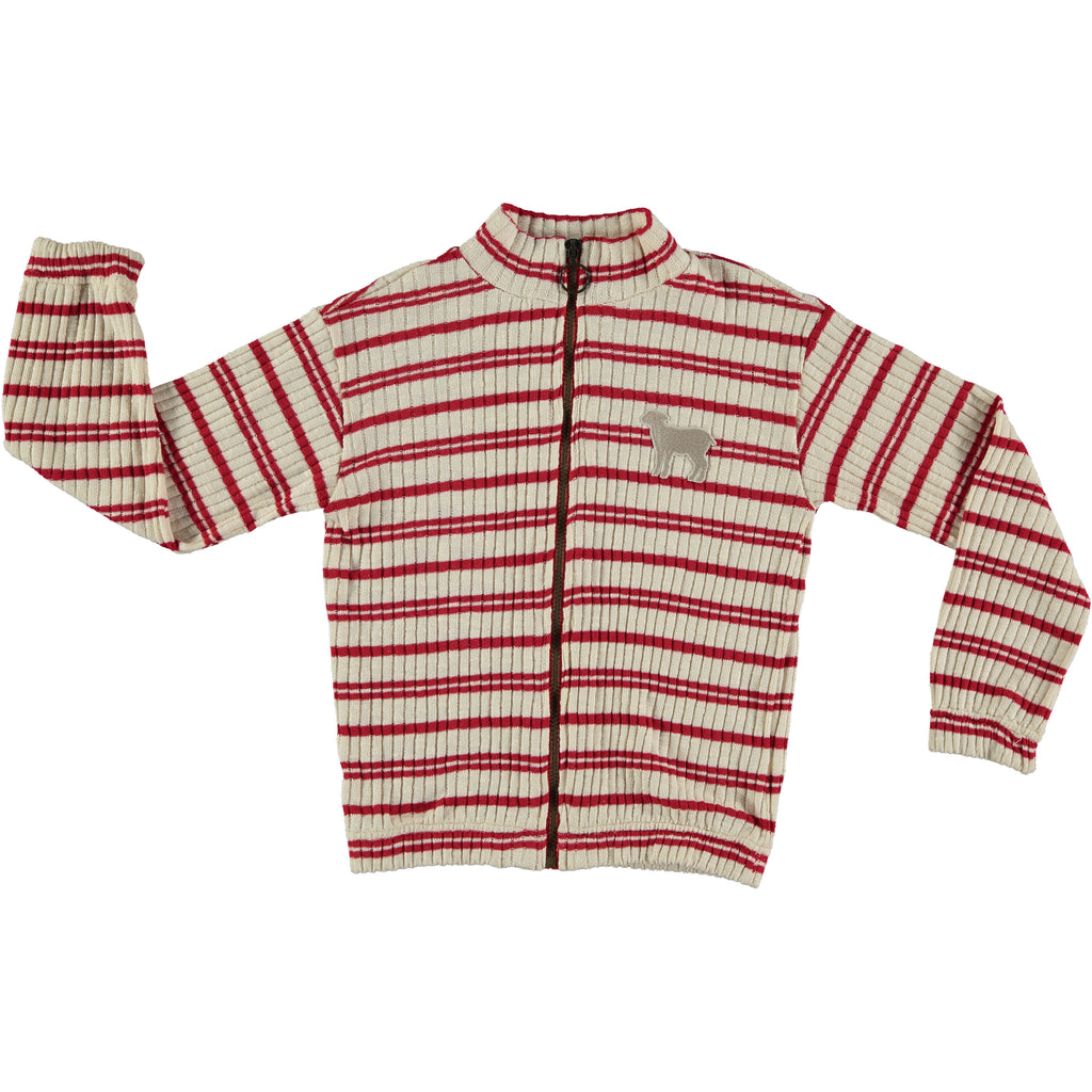 VESPA RED STRIPED - TRICOT JACKET