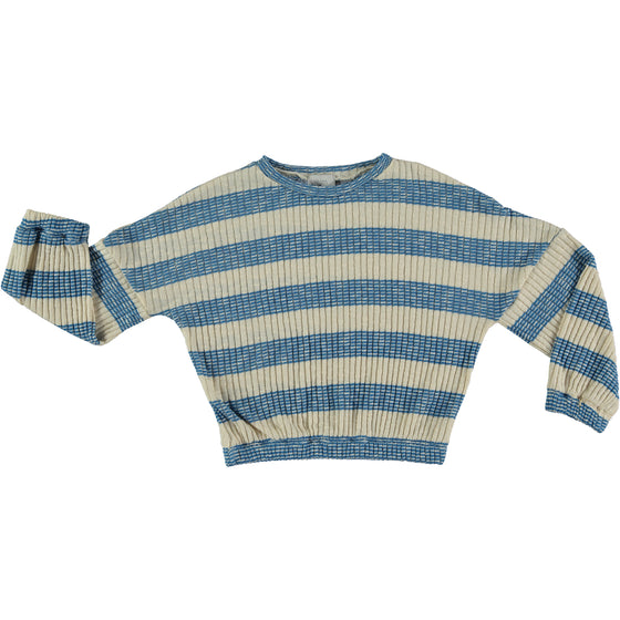 NINA BLUE STRIPED - TRICOT SWEATER