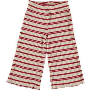 VOLPI RED STRIPED TRICOT PANTS