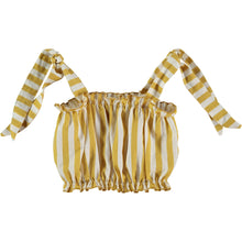 VALENTINA OCHRE STRIPED TOP
