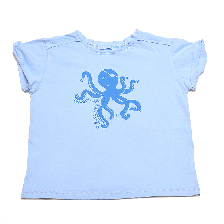 BALLENATOR BLUE T-SHIRT OCTOPUS