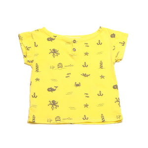 CHICO YELLOW T-SHIRT ALLOVER