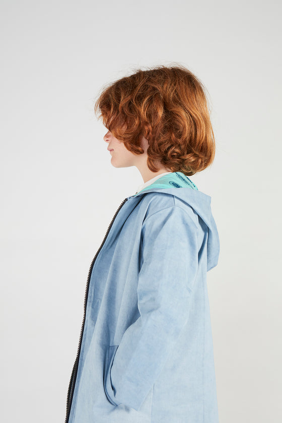 HIELO XL BLUE TRENCH COAT