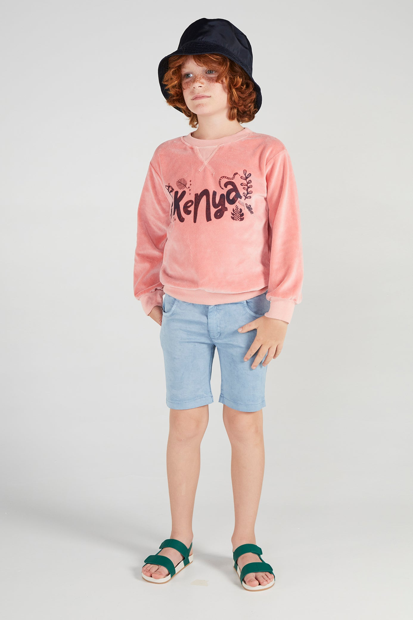 MERCURIO APRICOT TERRY SWEATSHIRT