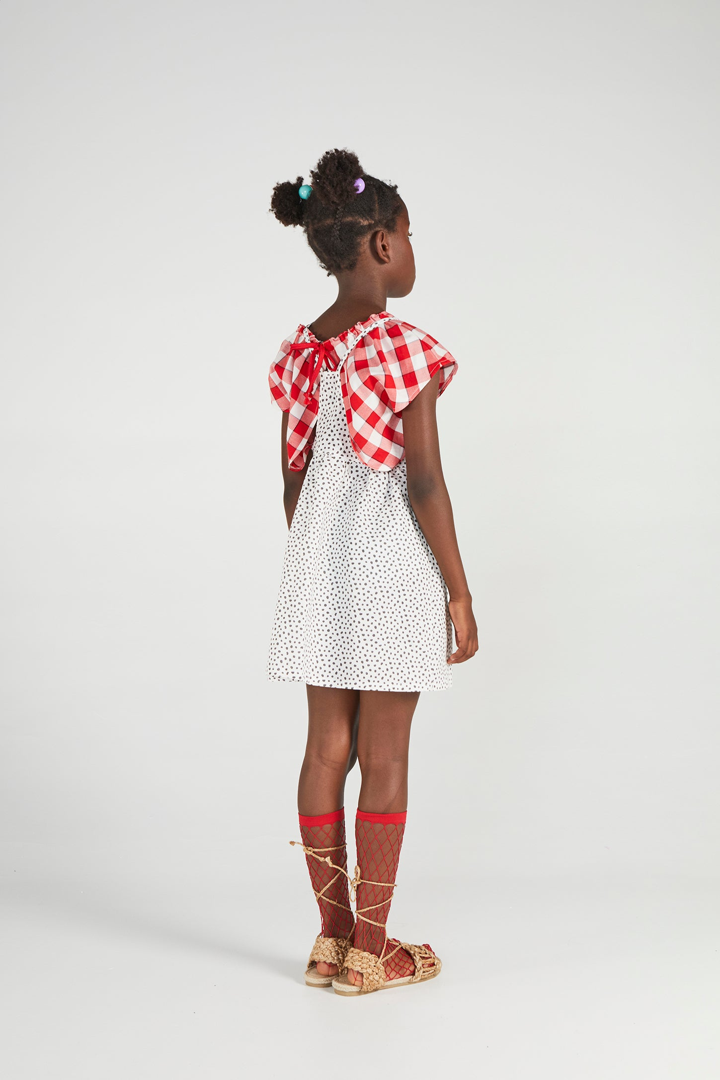 CUBA RAW DOTS DRESS