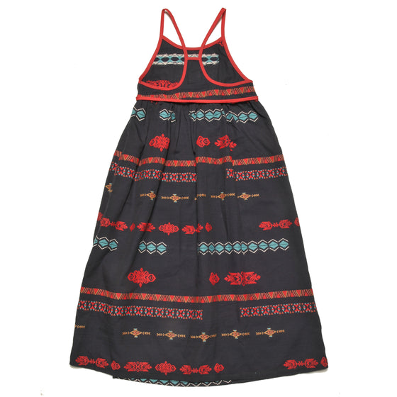 MASAI BLACK EMBROIDERED LARGE DRESS