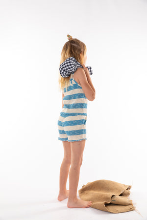 JOIN BLUE STRIPED - TRICOT OVERALL