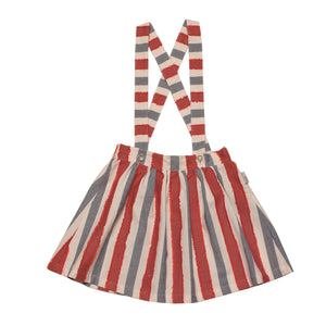 OSTRA RED STRIPED SKIRT