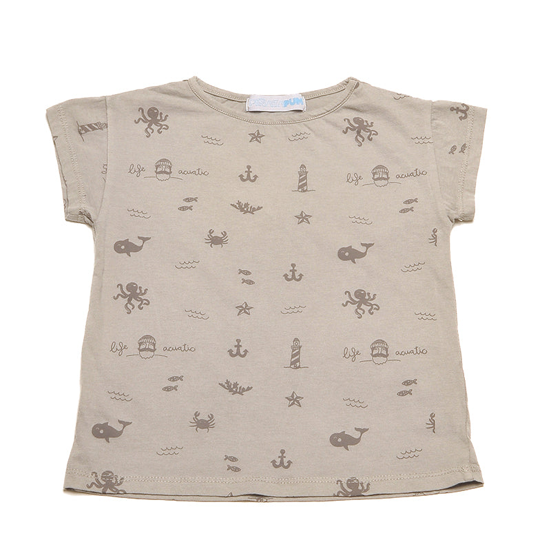 PALMER GREY T-SHIRT ALLOVER