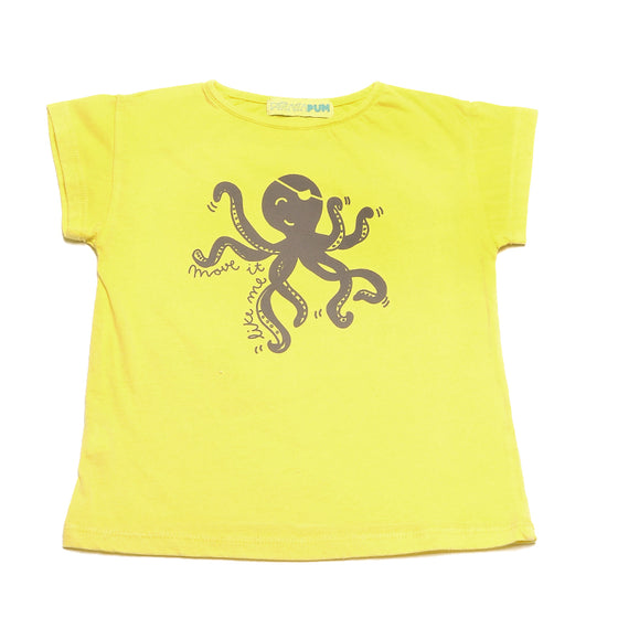 PALMER YELLOW T-SHIRT OCTOPUS