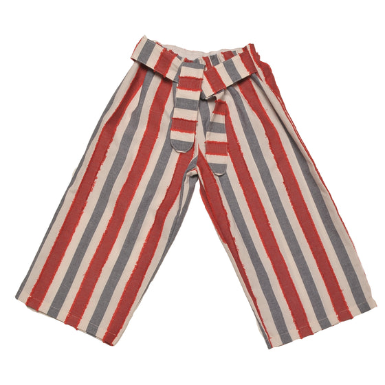 PALAZZO RED STRIPED PANTS