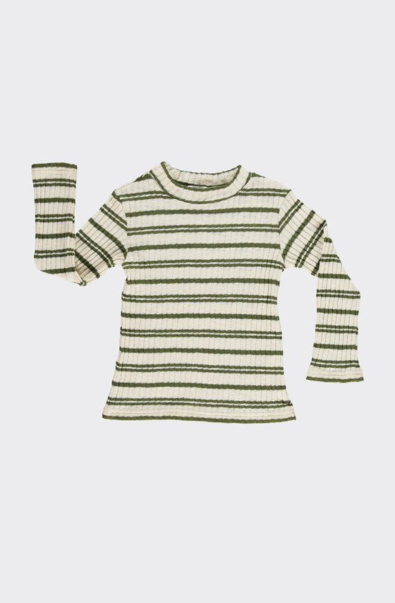 CISNE GREEN STRIPES - T-SHIRT