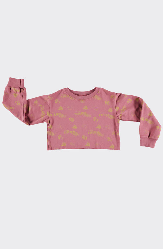 CROP MERCURIO CLAY - SWEATSHIRT