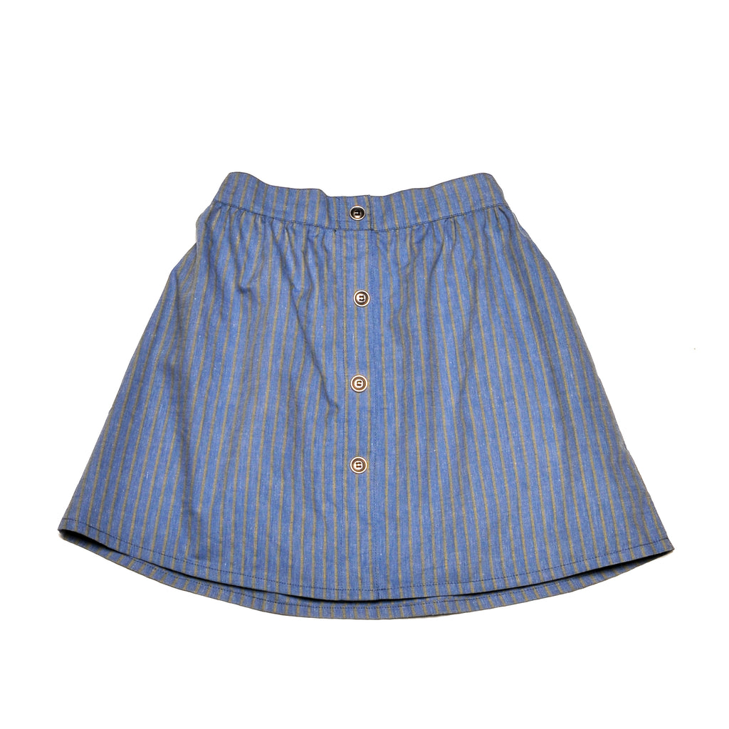 MEJILLÓN FAKE DENIM SKIRT