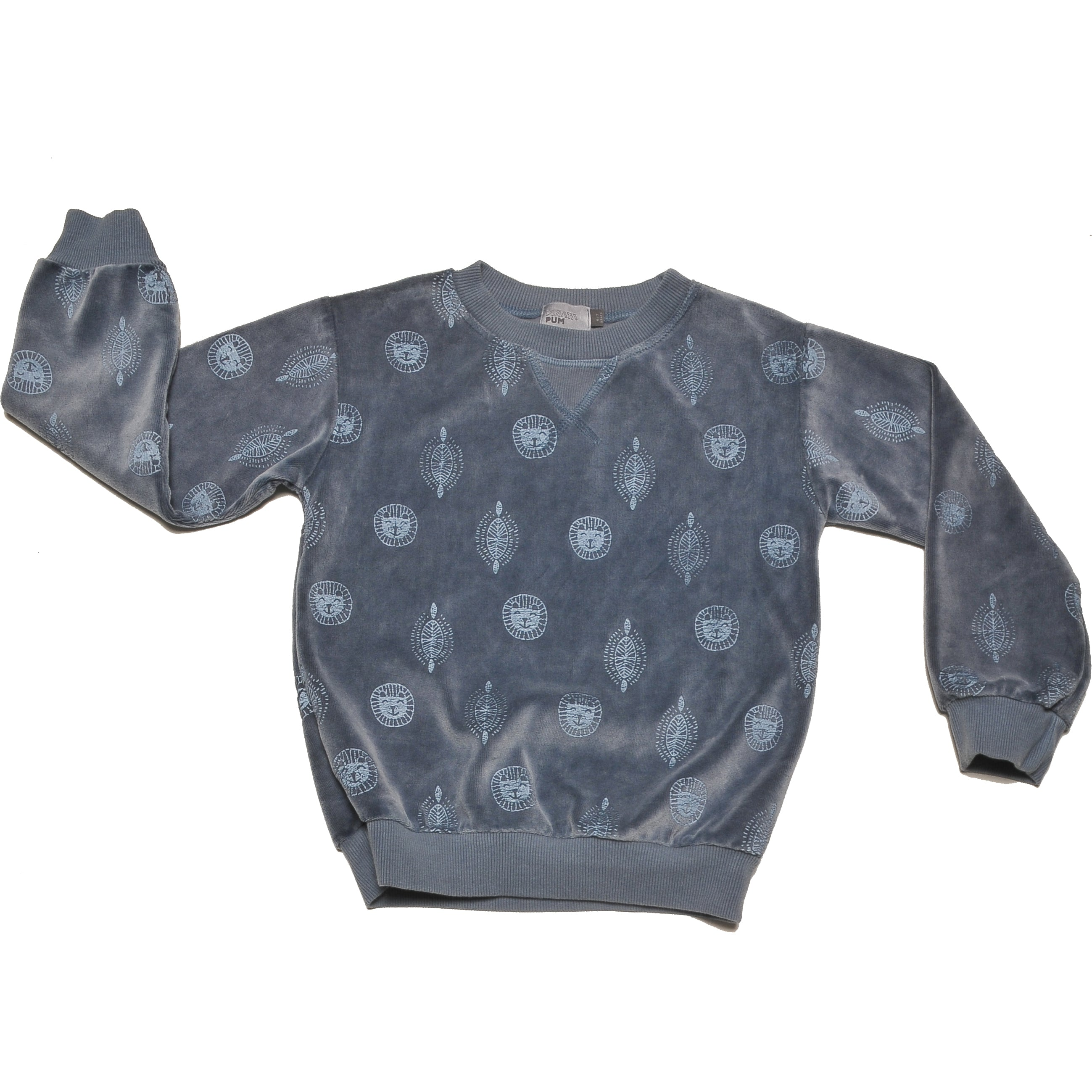 MERCURIO BLUE ALLOVER TERRY SWEATSHIRT
