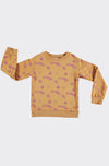 MERCURIO OCHRE ALLOVER - SWEATSHIRT