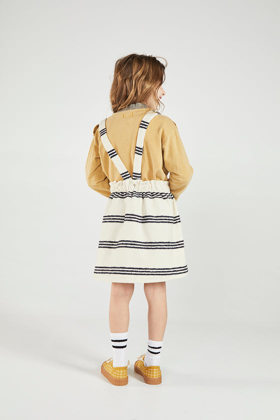 OSTRA RAW STRIPES suspender skirt