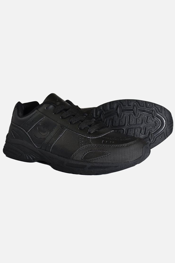 School Trainer Lace Up Black