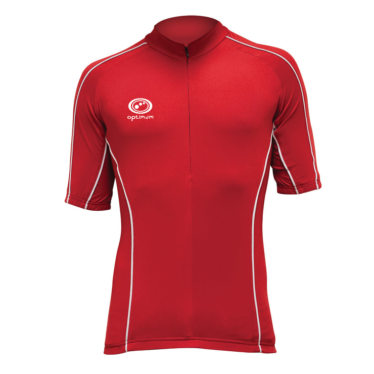 Optimum Hawkley Red Short Sleeve Cycling Jersey