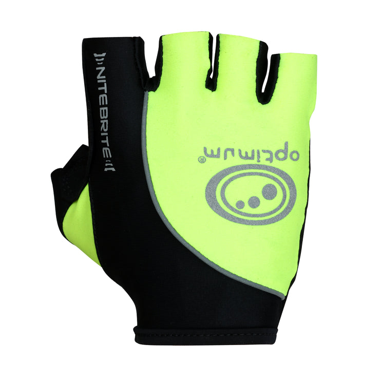 Optimum Nitebrite Half Finger Cycling Gloves