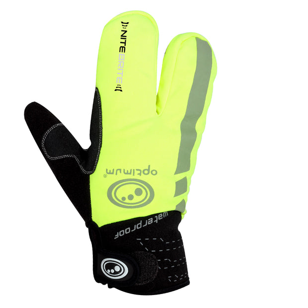 Optimum Nitebrite Cycling Lobster Gloves
